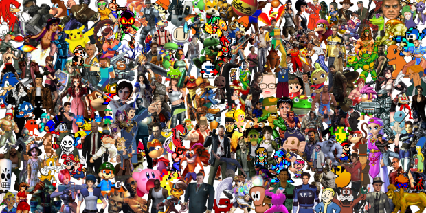 Videogame character banner