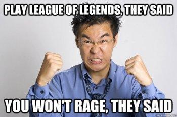 League of legends rage quit