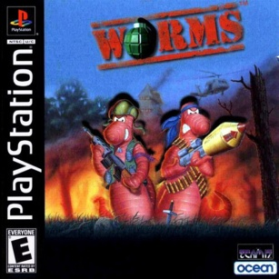 Worms Playstation case