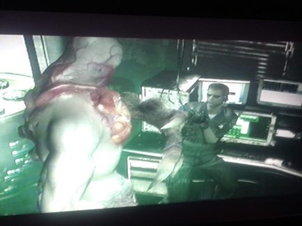 Wesker gets bitch-slapped