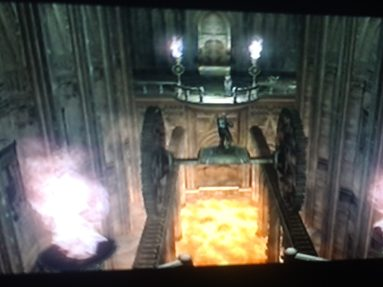 Resident Evil 4 Lava Pit room