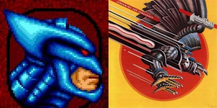Cyberhawk and the Screaming for Vengeance cover art are basically the same thing