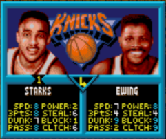 When leading, Ewing seems to lose his dunk ability