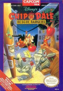 Chip n Dale NES Boxart