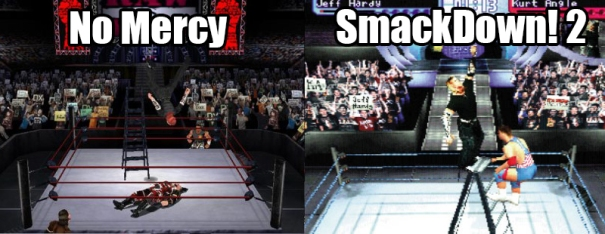 No Mercy/SmackDown!2 comparison