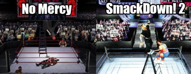 No Mercy/SmackDown!2 comparison