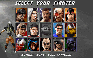 Mortal Kombat 3 character selection