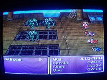Final Fantasy 1 Boat Fight
