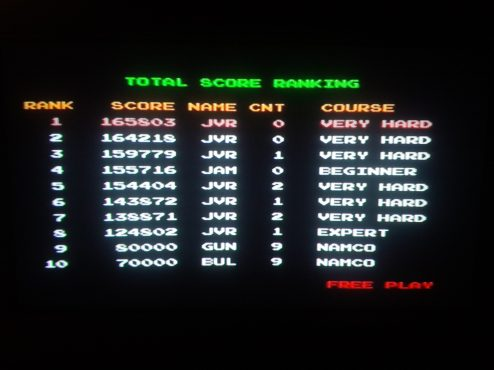 My current high scores in Point Blank