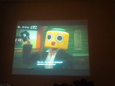 Even on a HD Projector the text is awful. The added bllom on my camera doesn't help...