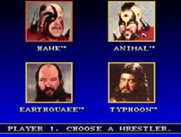 selection screen for Super WrestleMania