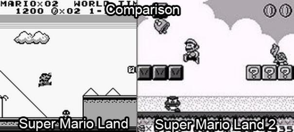Super Mario Land 1 and 2 comparison