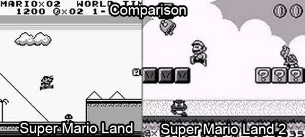 Super Mario Land 1 and 2 comparison