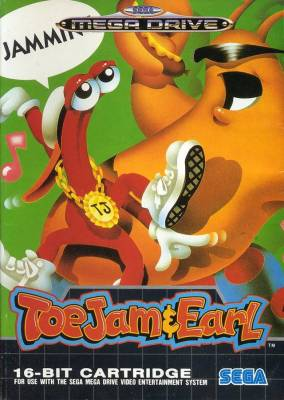 toejam and earl Megadrive case
