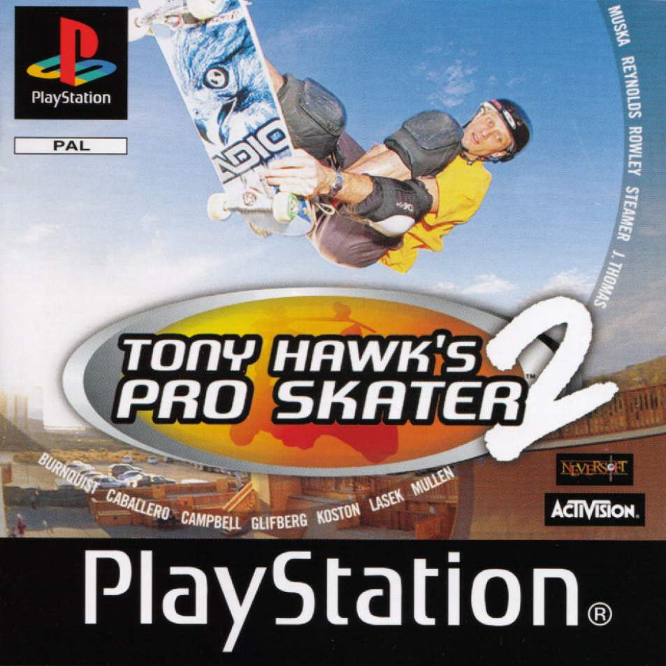 Image result for tony hawk pro skater 2