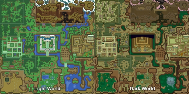 Link To The Past Light World Map.The Legend Of Zelda A Link To The Past Nintendo 1991 Super