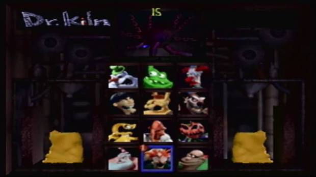 Clayfighter 63 1/3 character select screen