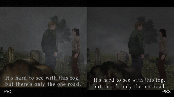 "Comparison of Silent Hill 2 and the ""crappy"" HD remake. Image stolen from Eurogamer"