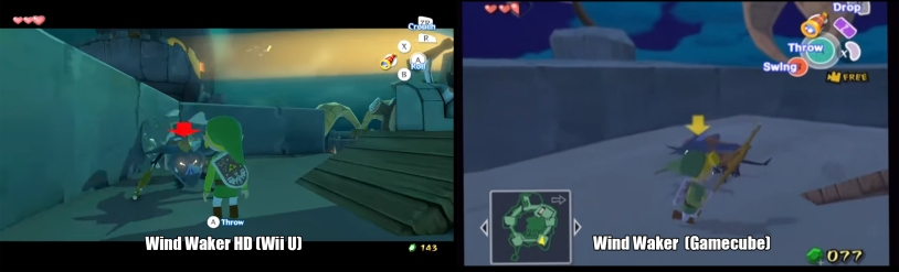 Wind Waker WII U Gamecube Comparison