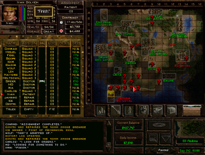 Map Screen, Jagged Alliance