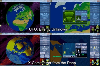Graphical comparison of X-Com: UFO Defense and X-Com: Terror from the Deep
