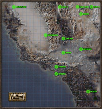 Fallout 1 map for the sake of it