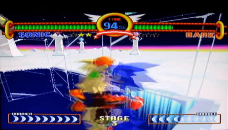 Yes, Sonic the Fighters DOES get this blurry