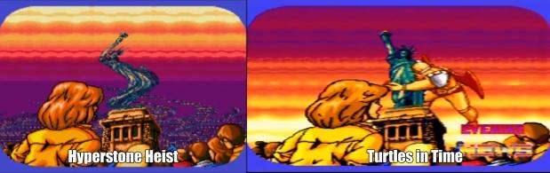 Side by side comparison, and pretty much same cutscene