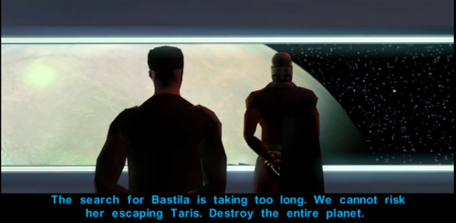 KOTOR perfectly captures the mise-en-scene of the movies